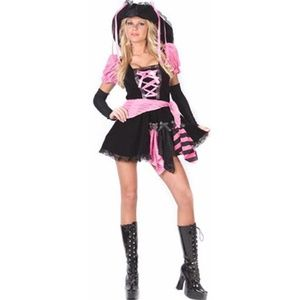 Pink Pirate Adult Woman's Halloween Costume XS 0-9